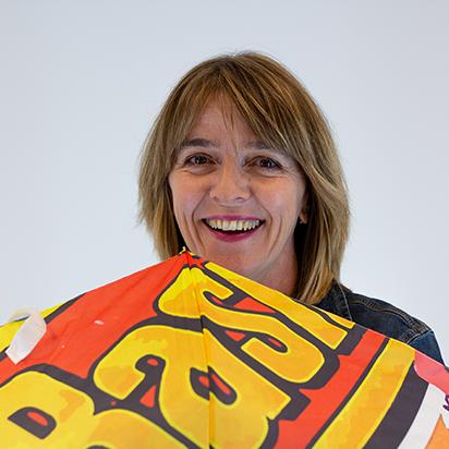 Gabi Kloetzli Assistentin Disposition bei Radio Basilisk
